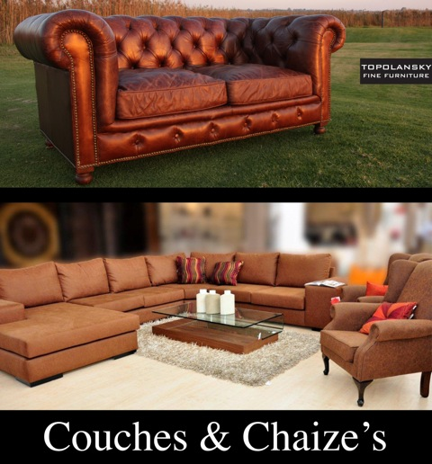 Couches, Sofa's & Chaises