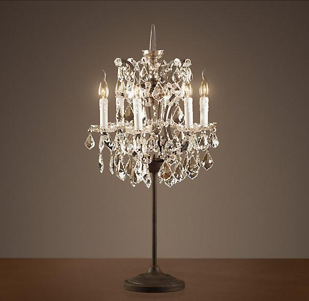 topolansky table lamp crystal antique. Black Bedroom Furniture Sets. Home Design Ideas