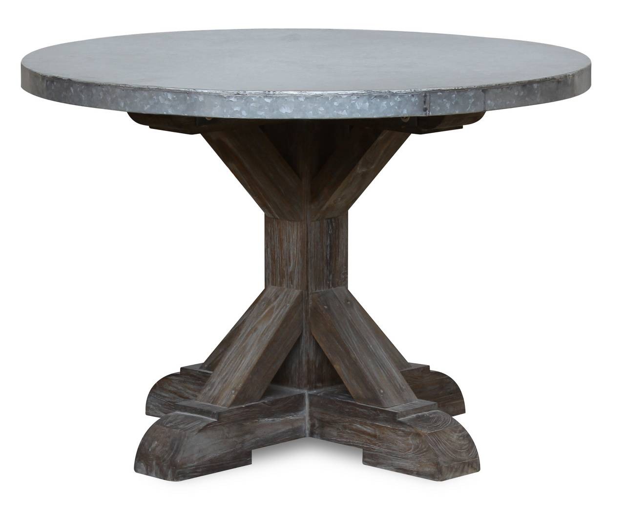 Topolansky industrial round dining table for Circular dining table