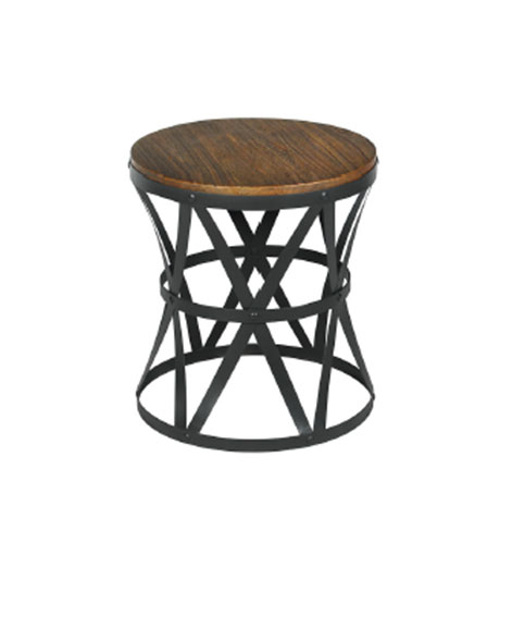 Elegant INDUSTRIAL ROUND SIDE TABLE. Product Data
